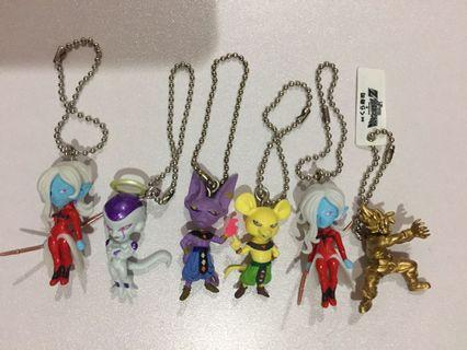 Dragonball Character Figure Keychain Gashapon bundle lot