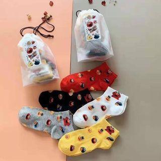 ELMO芝麻街印花棉短襪(預購商品)