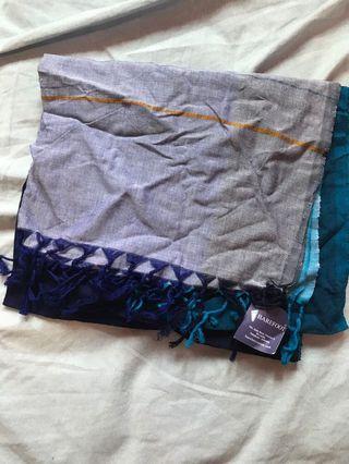 Barefoot handmade cotton + natural dye scarf