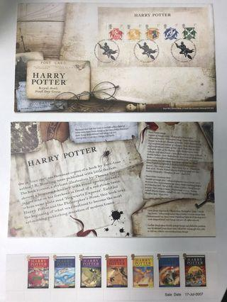 GB ROYAL MAIL FIRST DAY COVER - HARRY POTTER 17/07/2007