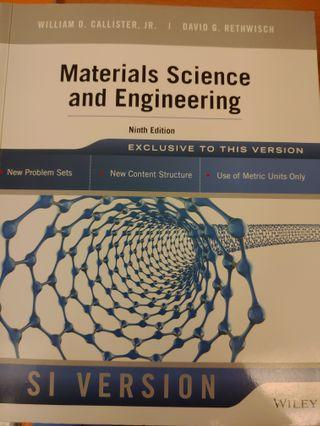 Materials Science and Engineering 9/E 材料科學