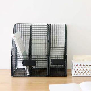 🆕 minimalist black grid book holder