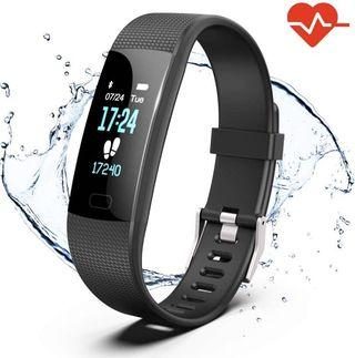 Akuti Fitness Tracker HR, Y1 Activity Tracker Watch with Heart Rate Monitor, Pedometer IP67 Waterproof Sleep Monitor Step Counter for Android & iPhone #winiphone11pro