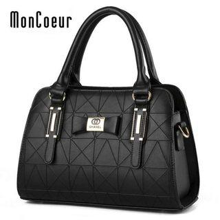 Ohanel PU Leather bag in Black 102