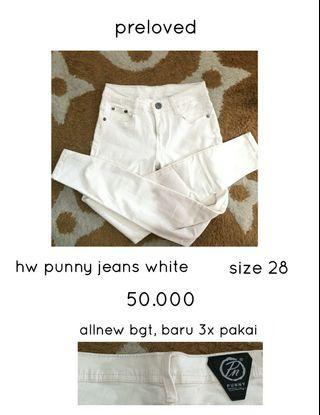 Hw punny jeans Hw White