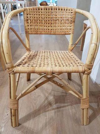 Cane chair with hand rest for sales!!!
