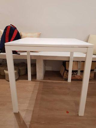 White particleboard surface table for sales!!!