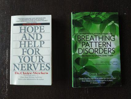 Two Books to help you overcome stress, anxiety, anxiety disorder, panic attacks