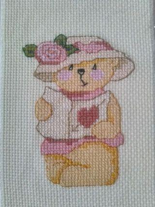 Lady bear crossstich