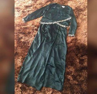 Zawara Emerald Green Dress