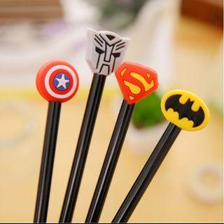Ink Pen - Captain America Superman Batman Transformers