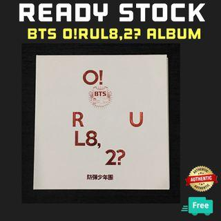 BTS [O!RUL8,2?] FIRST MINI ALBUM with POSTER(NO PC)
