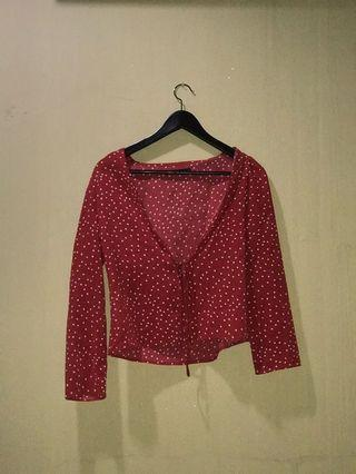 Red blouse/ shirt