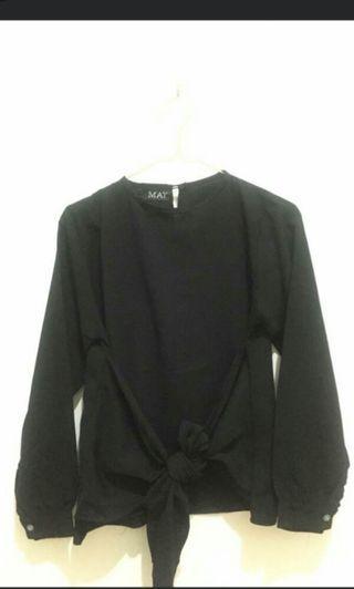 Atasan ikat Mayoutfit hitam