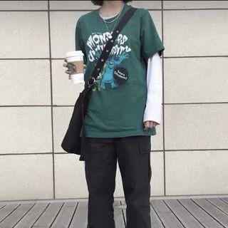 綠色怪獸大學短袖t