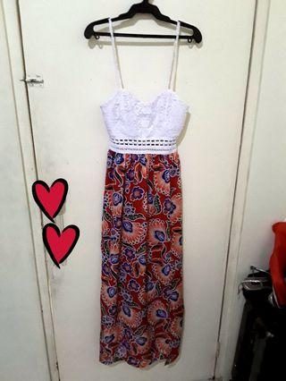 Bohemian Laced Maxi Dress ( fits XS to S )