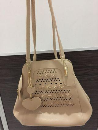2way handbag beige