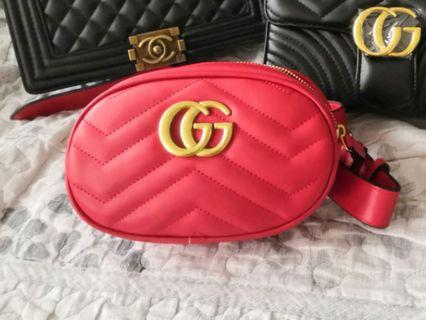 Gucci belt bag & chest bag #red colour only#