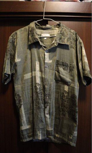 Vintage-唐裝花襯衫