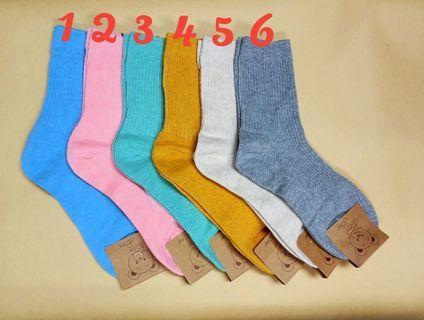 韓國素色中統襪