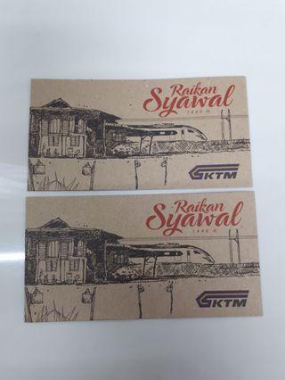 Angpao sampul duit raya KTM keretapi tanah melayu