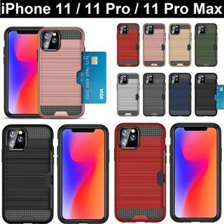iPhone 11 / iPhone 11 Pro Max Card Slot Armour Phone Case