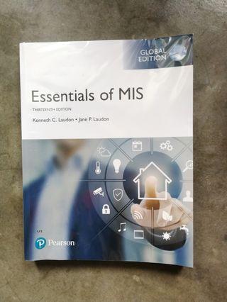 Essential of MIS textbook