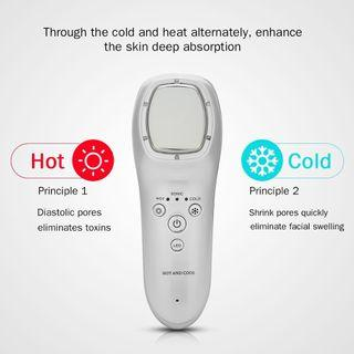 Acne healing cooling device with LED