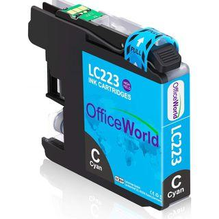 OfficeWorld Replacement for Brother LC223 Color Ink Cartridges CYAN (Z464)