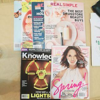 Stack of Magazines: Real Simple, Knowledge and InStyle Magazine