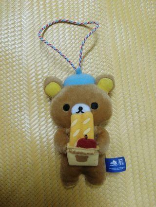 7-11 拉拉熊 娃娃玩偶吊飾 法國麵包