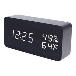wood style digital led clock (Z472)