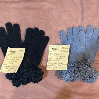 古著 國外帶回 古典手工舒適毛料手套