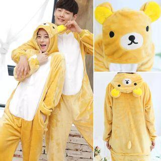可愛動物法蘭絨睡衣