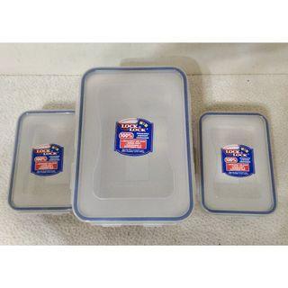 全新~ Lock&Lock樂扣樂扣 1大 3.9L微波吐司盒HPL829 + 2 小 850ml 蔬果盒HPL815