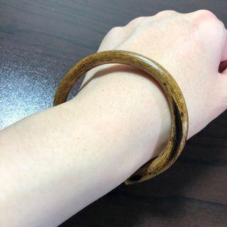 西藏雞血藤手鐲 特色大側眼 6.6mm粗、18~19.5cm手圍。天然藤鐲 藥鐲