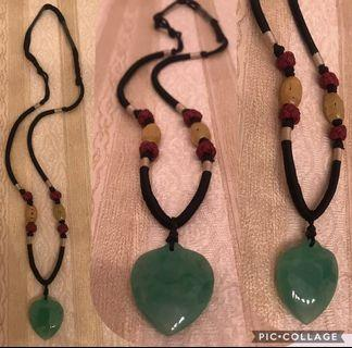New Chinese Knot heart jade pendent Necklace