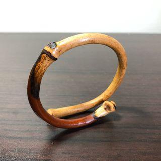 西藏雞血藤手鐲  (大黑眼) 陰陽藤 6.3~7.3mm粗、(繞藤)任意手圍。文玩 天然藤鐲 藥鐲