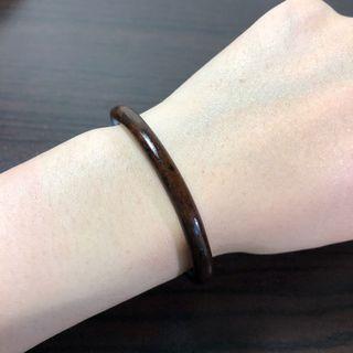 西藏雞血藤手鐲 咖色飄花(大油皮)5.9mm粗,手圍13.5~15cm。文玩 天然藤鐲 藥鐲