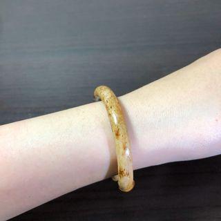 西藏雞血藤手鐲 奶白漸變咖色飄花 6.2~6.5mm粗、13~14.5cm手圍。文玩 天然藤鐲 藥鐲