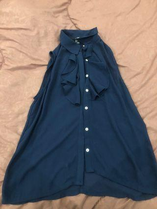 FOREVER21 Navy Blouse