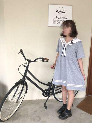日系水手服洋裝  入秋約會洋裝