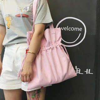 🆕🇰🇷🇨🇳 white/pink drawstring tote bag