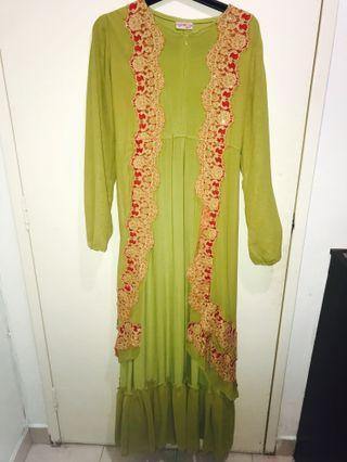 Lime green Jubah