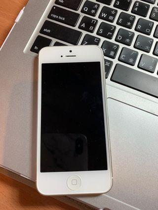 iPhone 5 , 16G (白色),附原廠盒子+充電線
