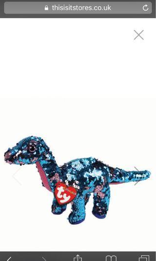Ty Flippables Tremor Dinosaur