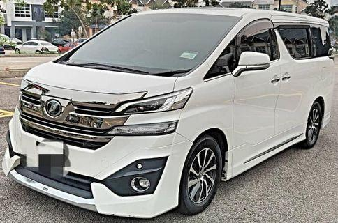 SEWA BELI VELLFIRE 3.5 EXECUTIVE LOUNGE