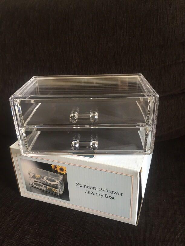 2-Drawer Acrylic Jewelry Box #winiphone11pro #MRTToaPayoh