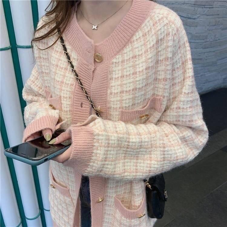 小香風針織外套