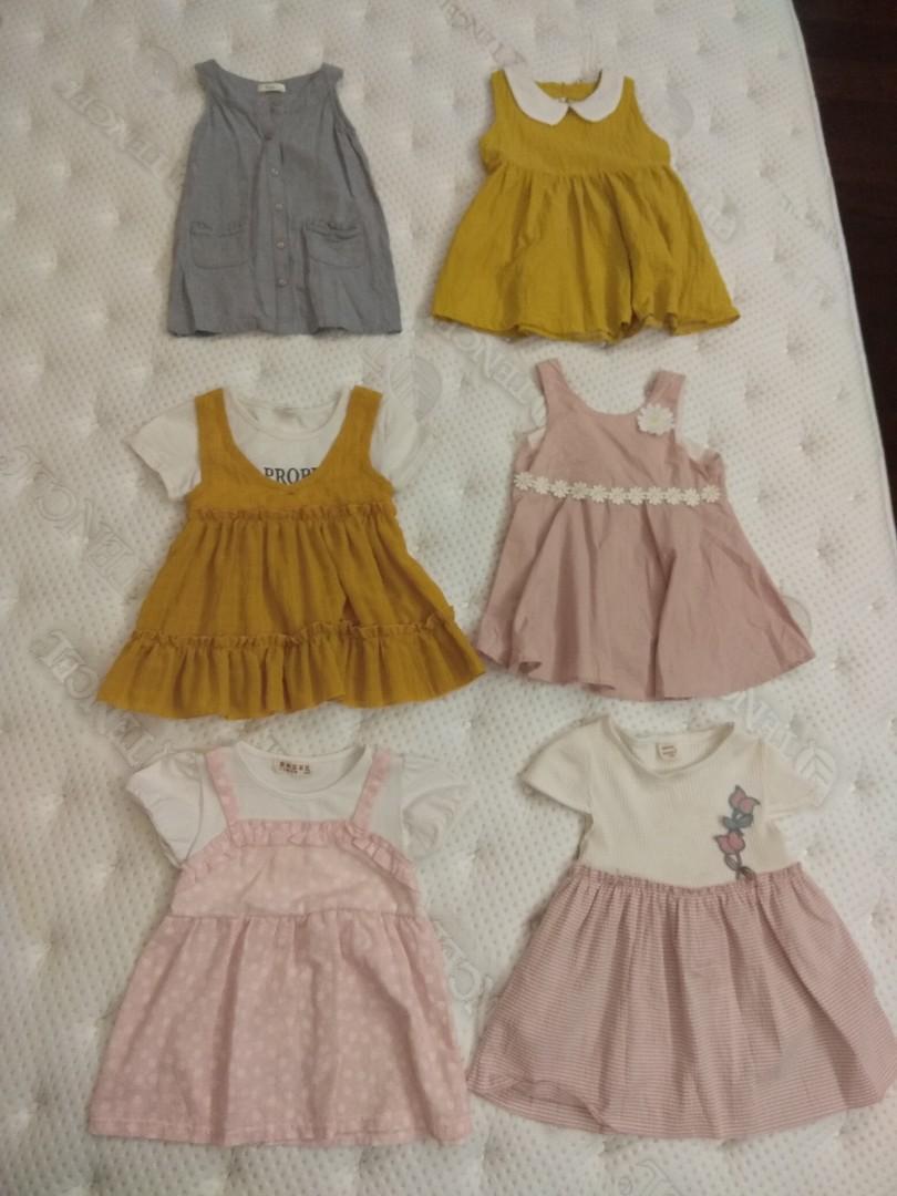 全新女小童圓領無袖洋裝連身裙